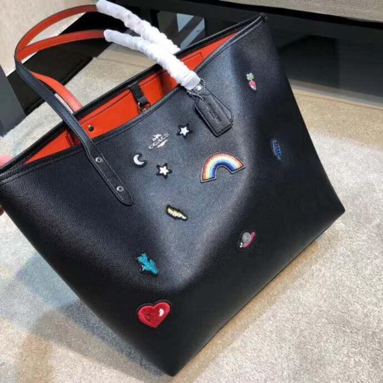 Shopping Bag  Womens Bags  F25798  Rainbow Shopping Bag  Leather Bag  Handbag  Shoulder Bag