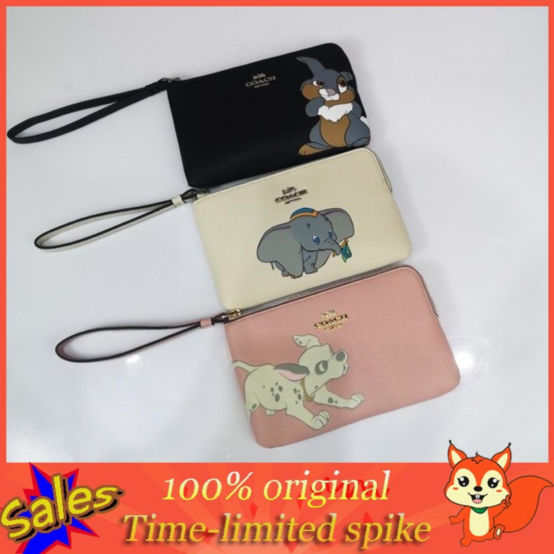 (SG COD) COACH Women's Bags wrist bags F91776 F91778 F91777 clutch bags single zipper coin purse
