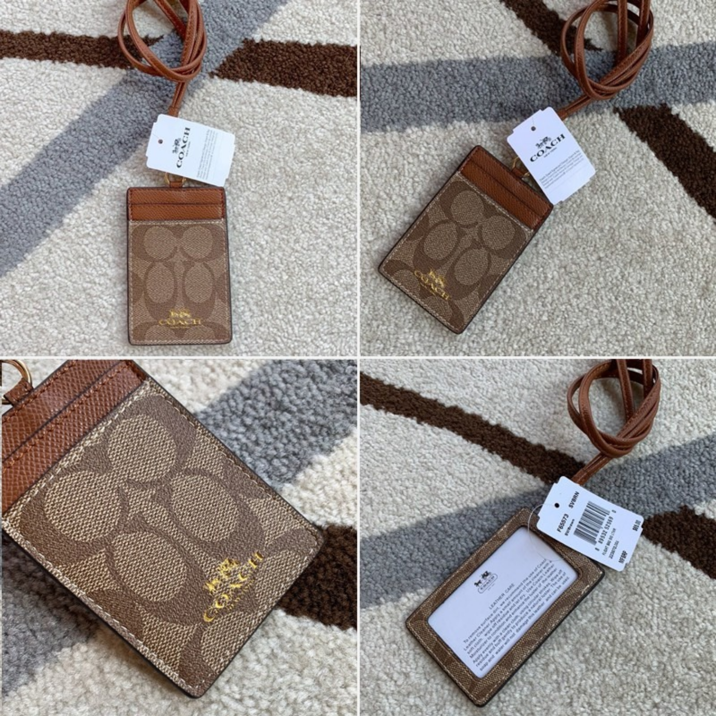 Special spot Card Holders  Coach F26654 F65573 F23679  Brand card lady card holder  Leather work card  unisex  work Card  Tag  lanyard  student card
