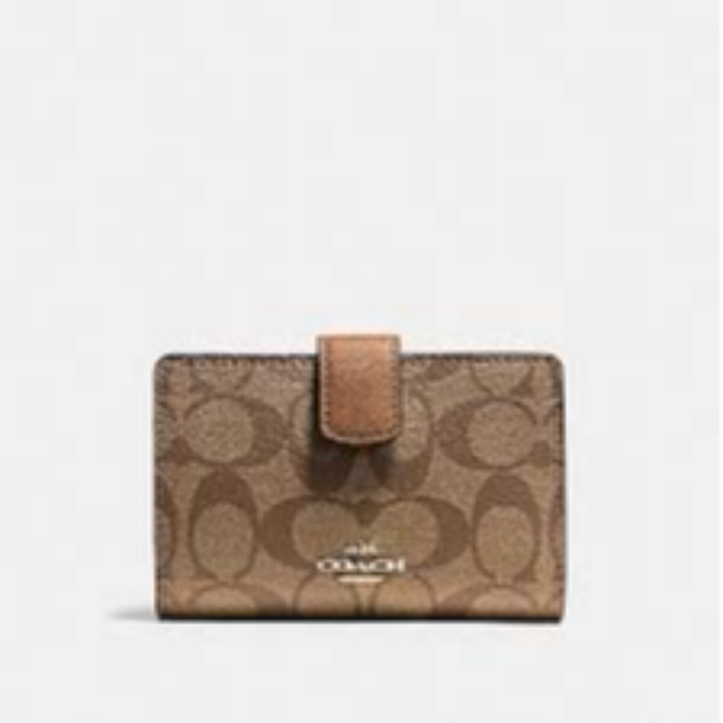 Coach Ladies Wallet MEDIUM CORNER ZIP CROSSGRAIN LEATHER COACH F53436 Brown Style
