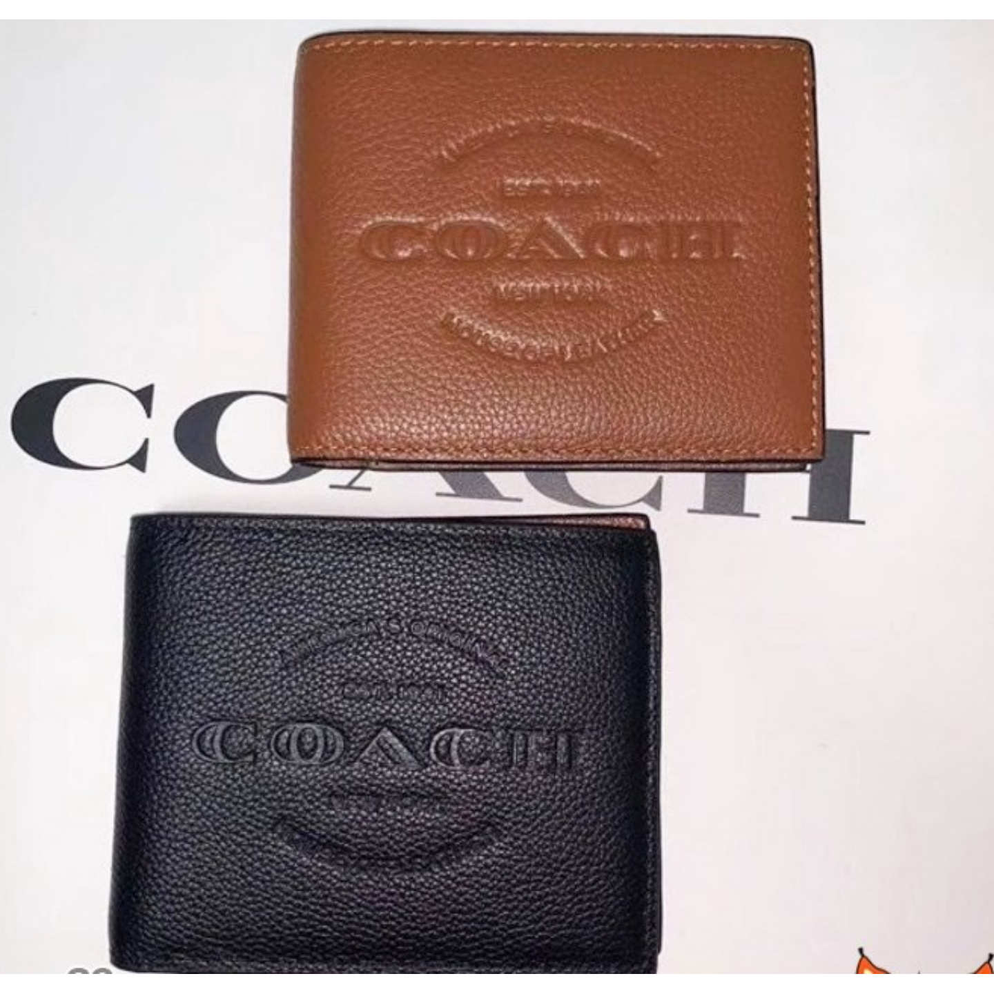 (SG COD) Men's  Coach wallet F24647 wallet and cardholder short wallet