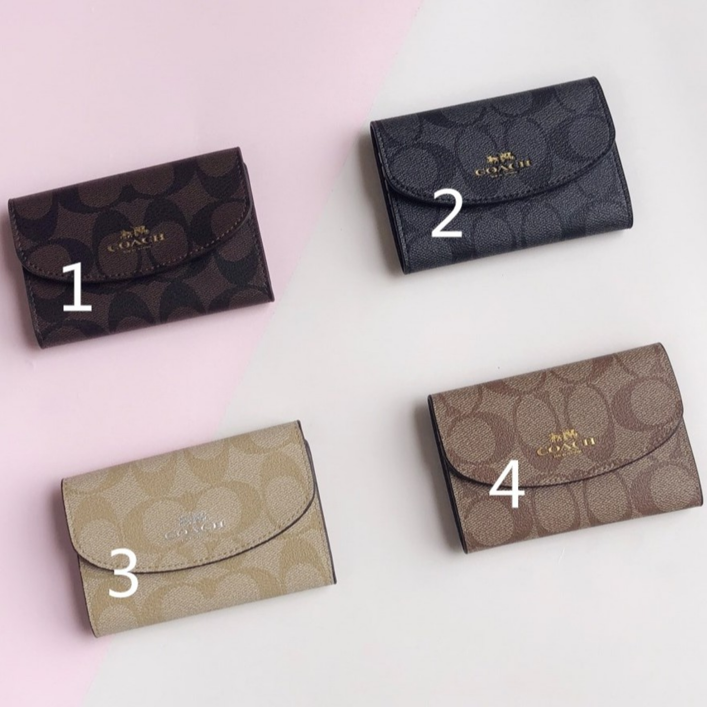(SG COD) coach Small key pack for men and women is convenient and practical