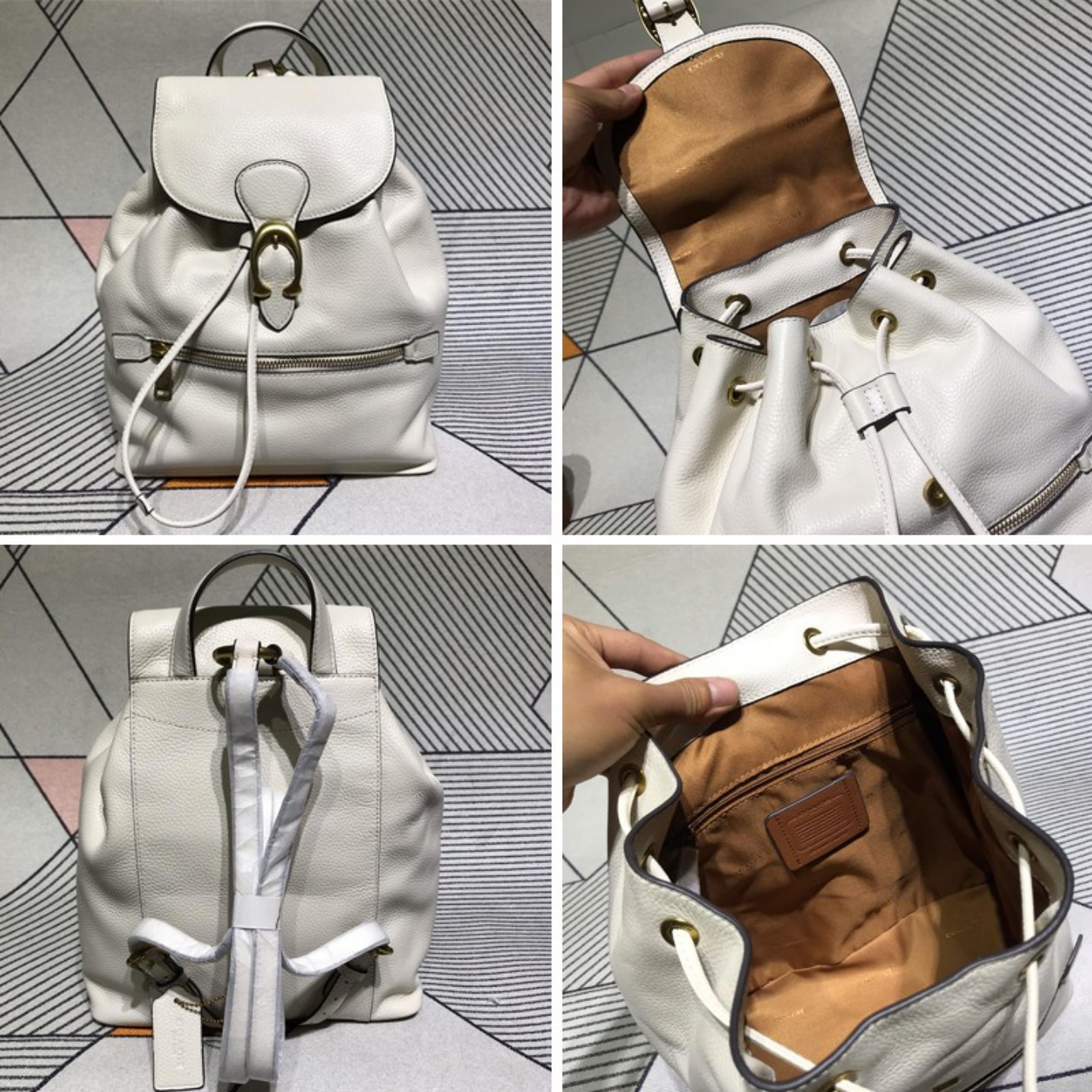 (SG COD) Women's  Coach  backpack F68380 F68563 Drawstring backpack