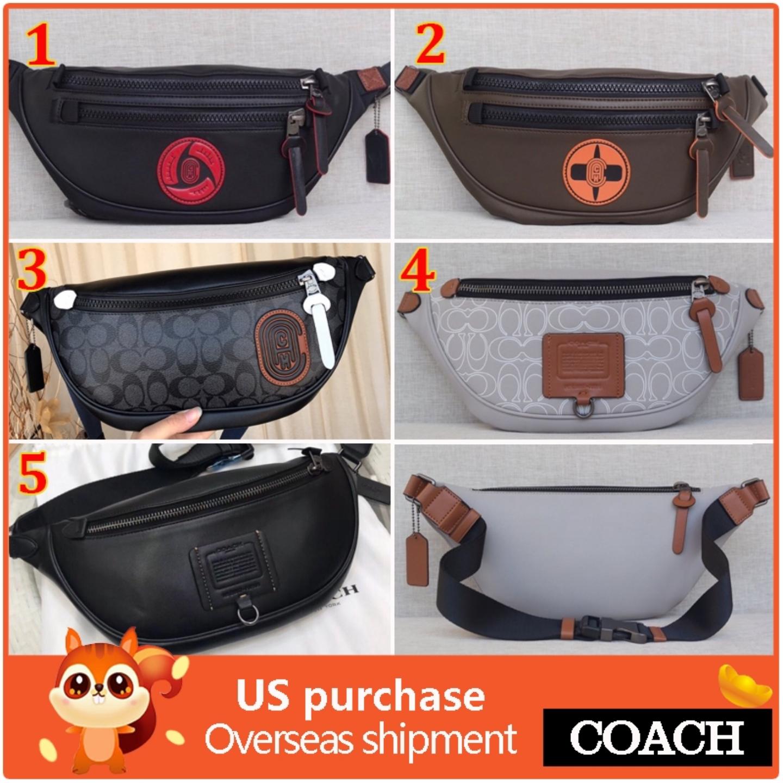 (SG COD) COACH Men's Waist Pouches F37591 F79037 F78899 F84707 waist bag Messenger Bags Fashion belt bag