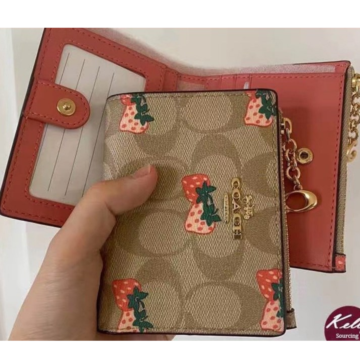 (SG COD)  Ladies Coach wallet F91156 cardholder card holder key card holder
