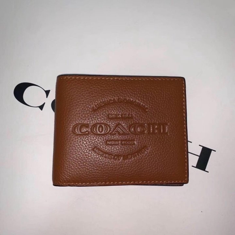 (SG COD) Men's  Coach wallet F24647 wallet and cardholder short wallet