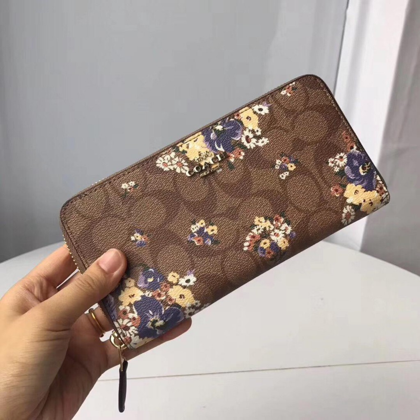 Coachs new 31572 printed lady Zipper Wallet