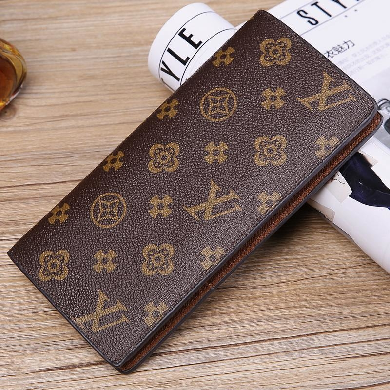 Lv Leather Women Clutch Luxury Long Folded Wallet