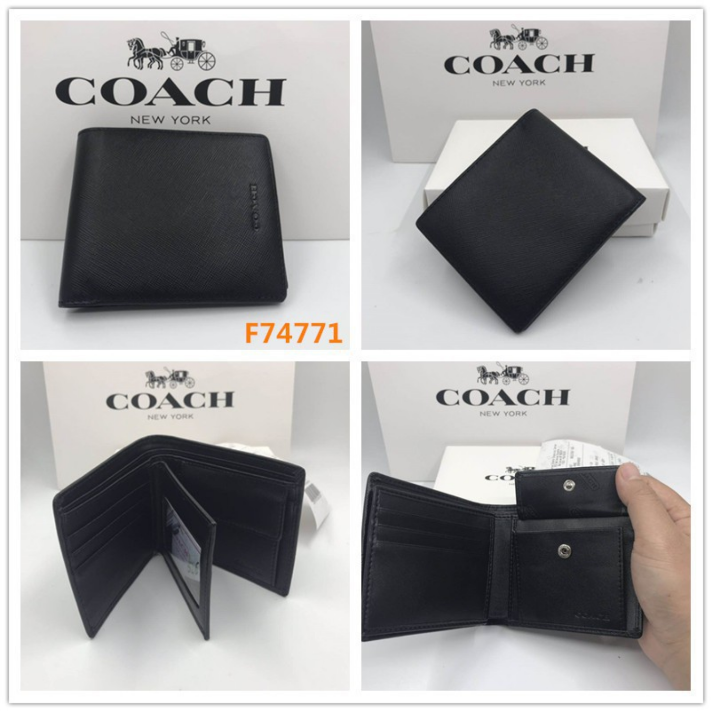 Coach f75006 f74771 Short wallet  coin purse  leather wallet