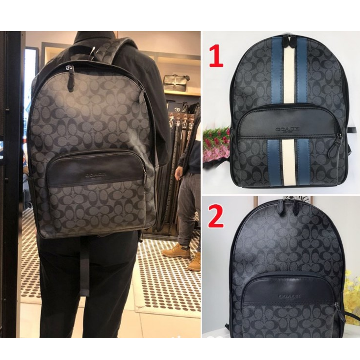 (SG COD)  Men's Backpack F72482 F67250 Backpack Backpack Casual Backpack Travel Coach Backpack