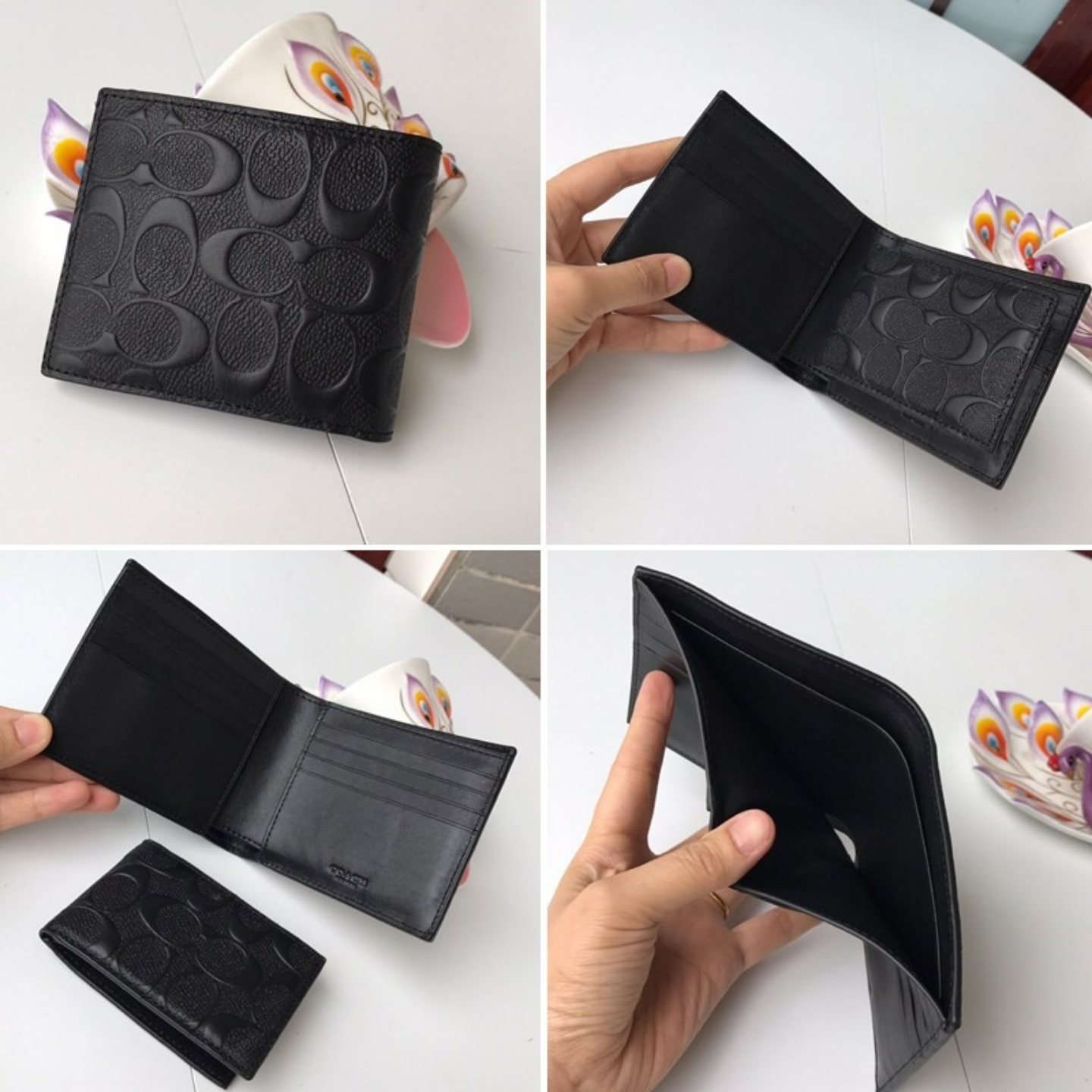(SG COD) Men's wallet F74547 F75371 F87188 F74768 wallet and cardholder short Coach wallet leather wallet