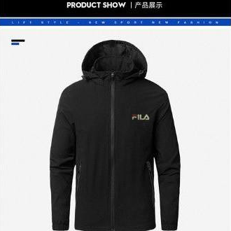 Fila hoddie hanzo arm big logo stitching jacket