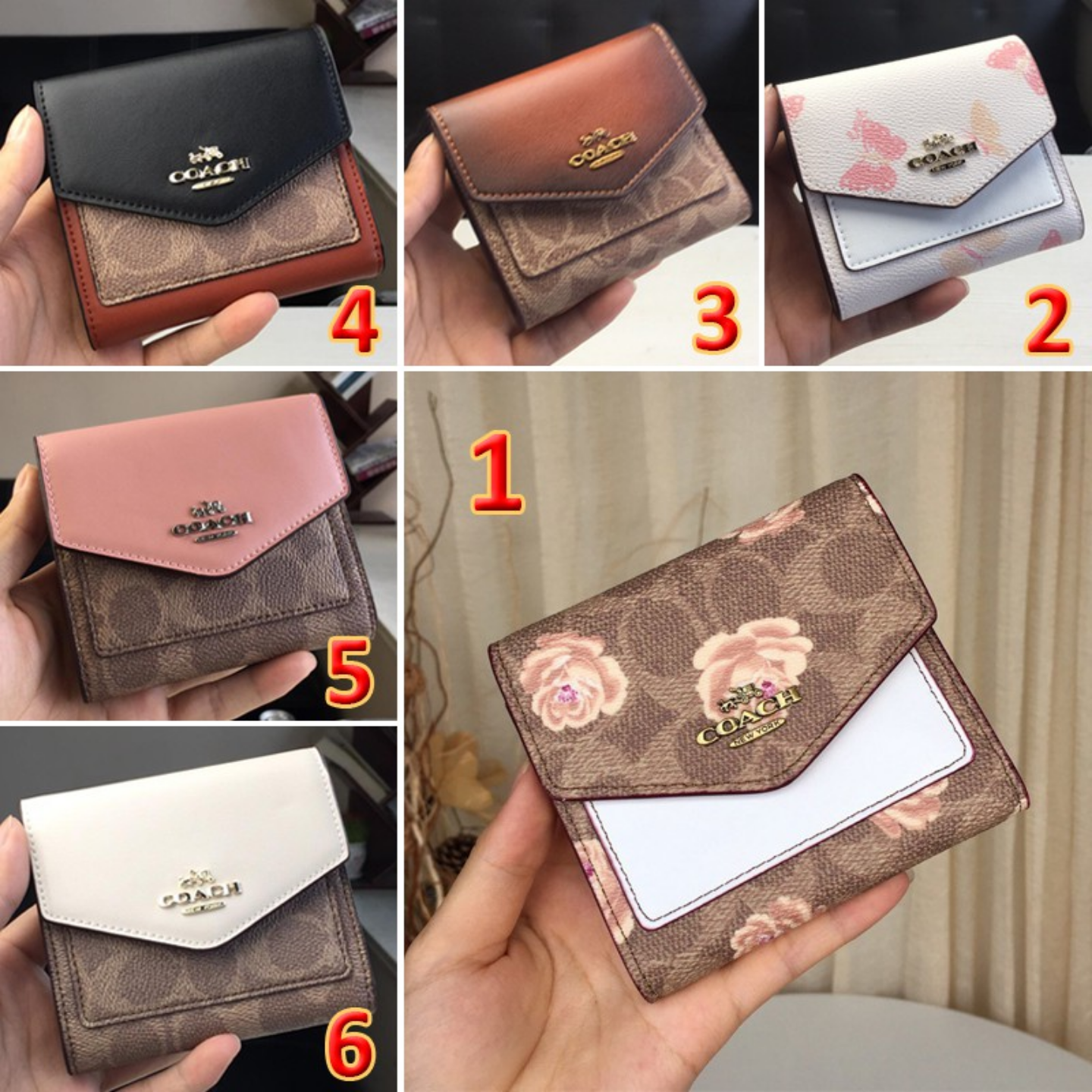 (SG COD) Coach   Women's wallets F31548 F31817 F69683 wallets and cardholder short wallets