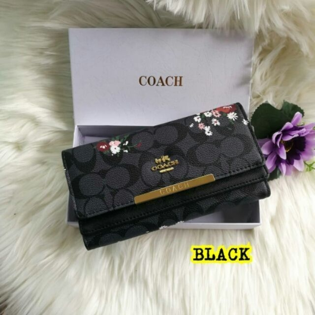 Coach multi compartment flora wallet