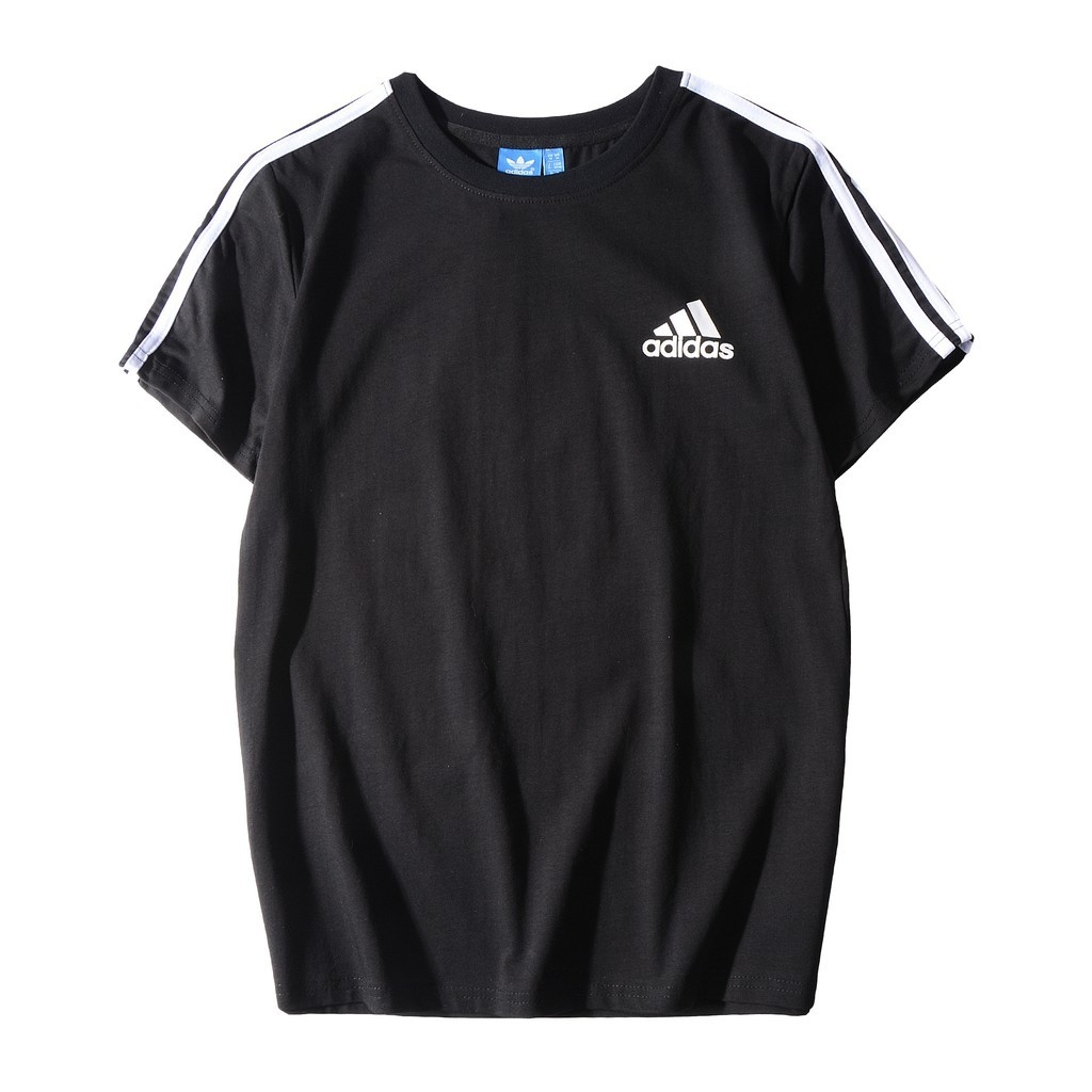 Adidas Classic Logo Men And Women Fashion Short-sleeved T-shirt