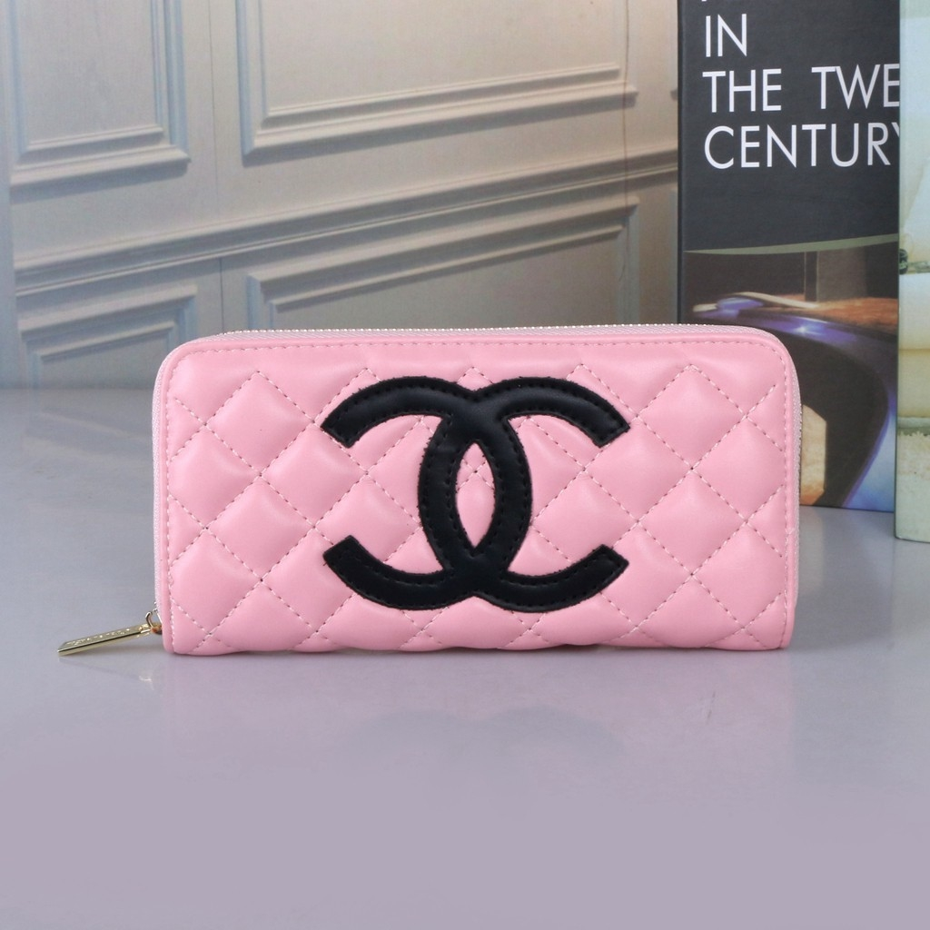 Chanel Big Logo Printed women Long Wallet