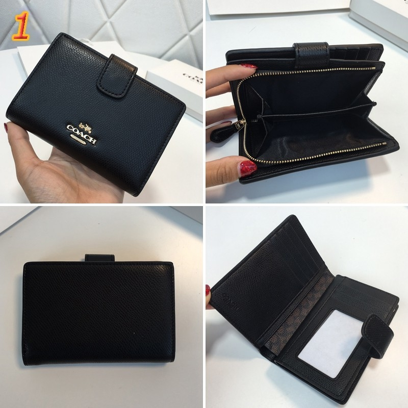 coach card holder short wallet