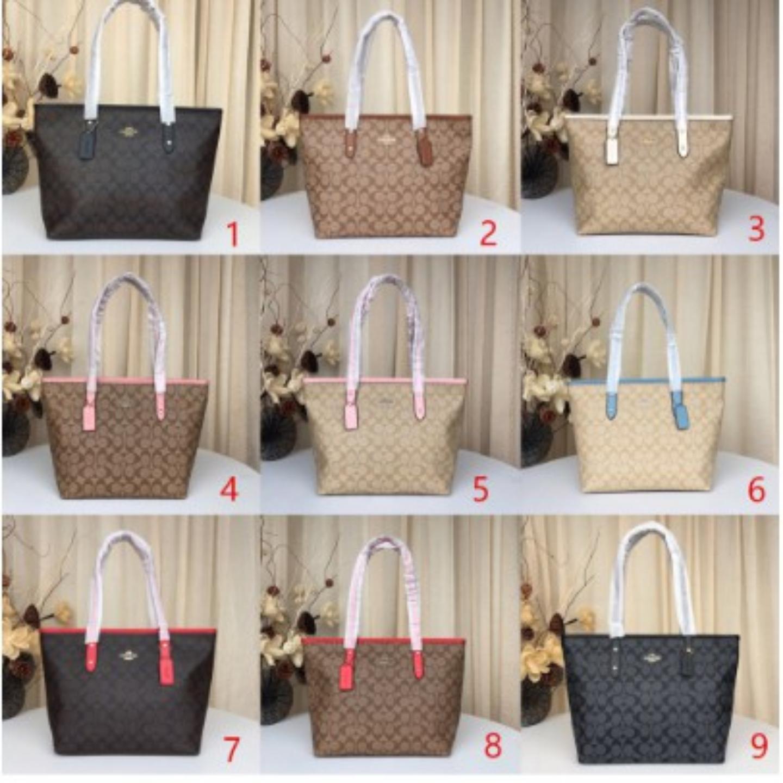 (SG COD) Coach【Special Sale】 Women's Bags F58292 Zipper Shopping Bag / Handbag / Shoulder Bag / Leather Bag / Ladies Shoulder Bag