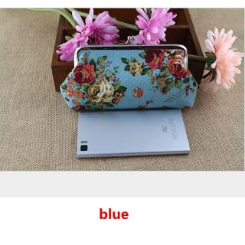 (SG COD) COACH Canvas Wallet Women Rose Coach Purse Long Section Wallets Coin Purse Phone Bag