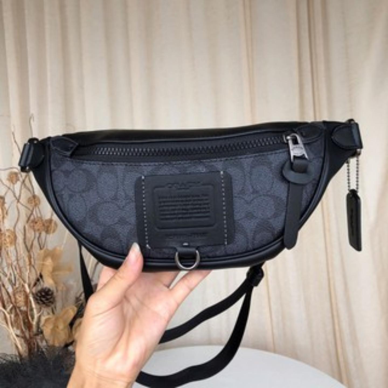 (SG COD) COACH New coach f76187 fashion men's diagonal straddle chest bag