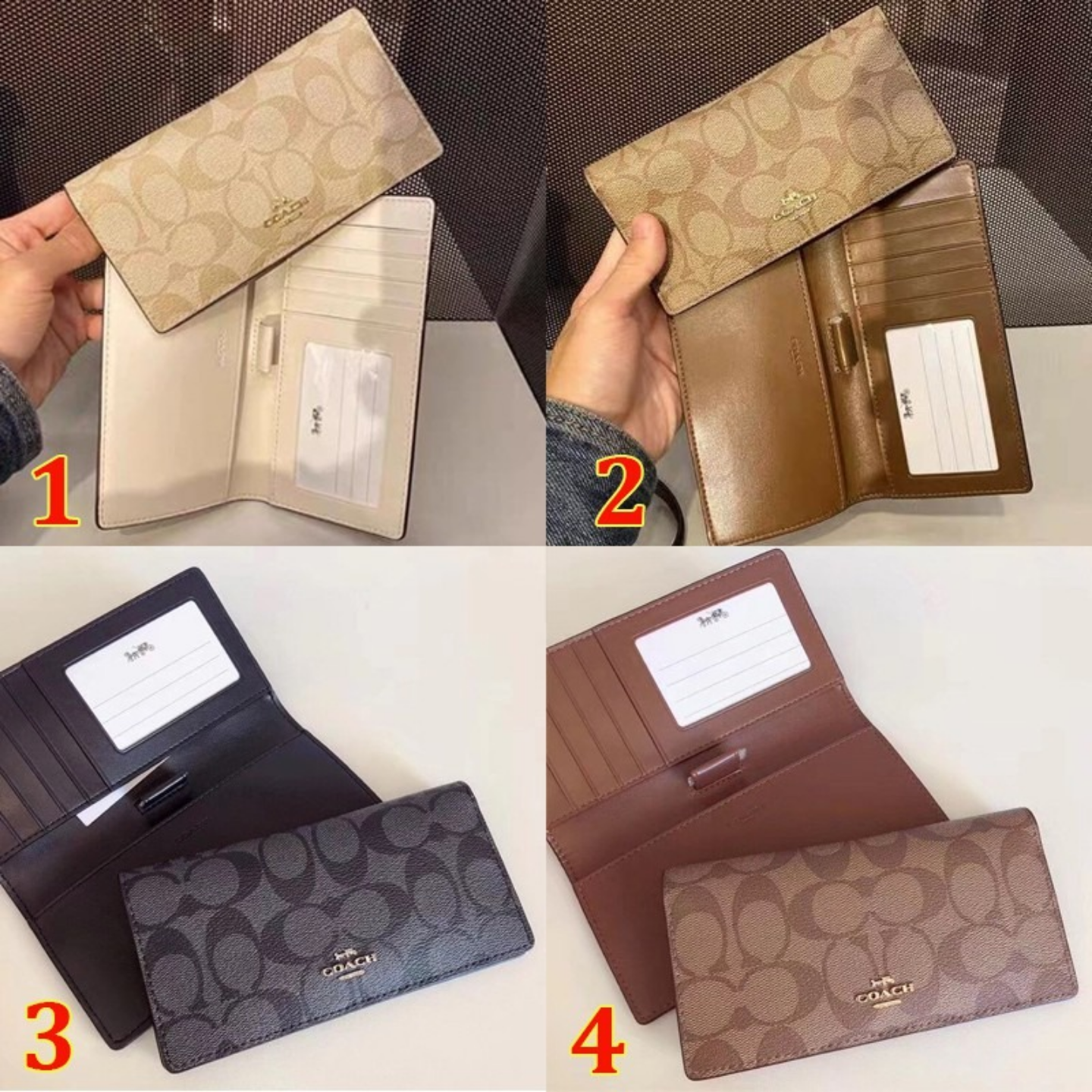 (SG COD)  Women's Long Coach  Wallets F88026 wallets folding Long Wallets casual Long Wallets