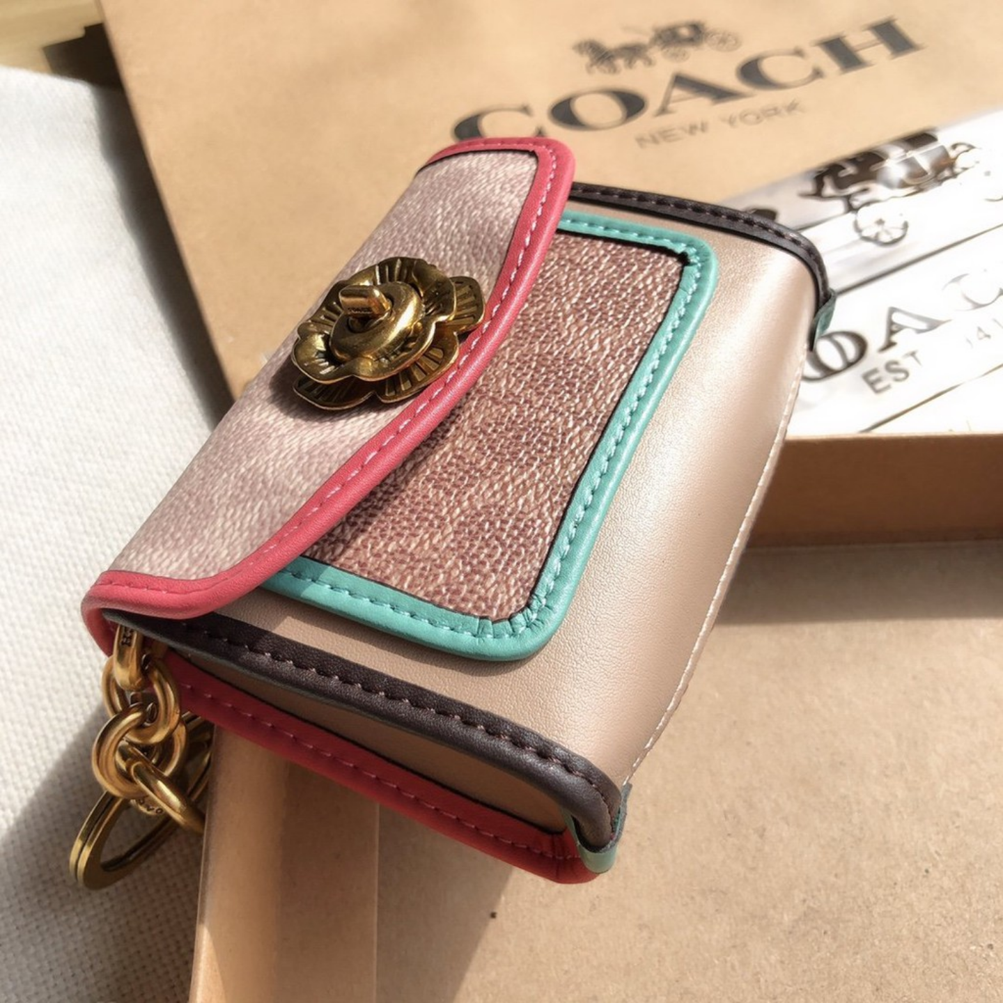 (SG COD) Coach Ladies wallet F89409 wallet and cardholder coin purse key chain wallet
