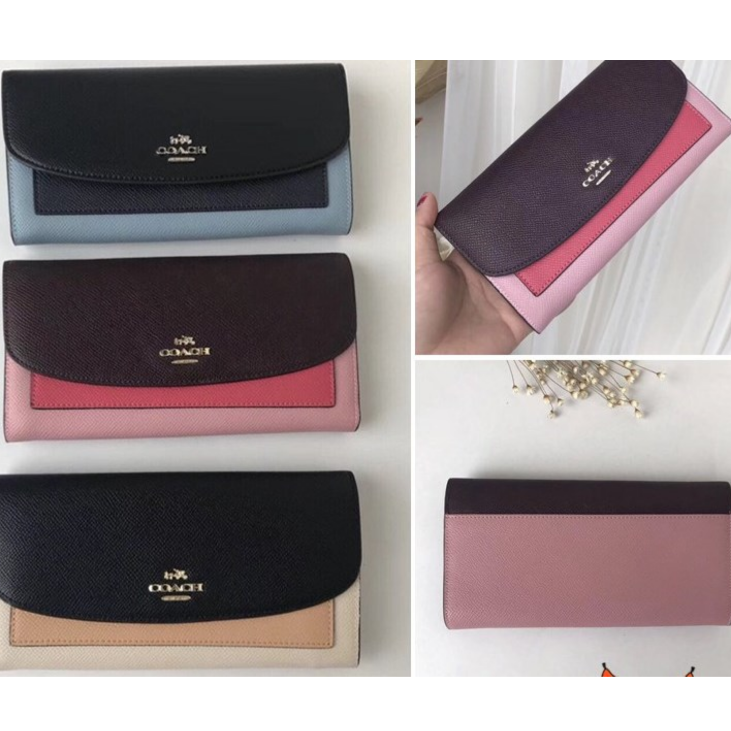 (SG COD)  New ladies long Coach wallet F56492 wallet long wallet fashion long wallet