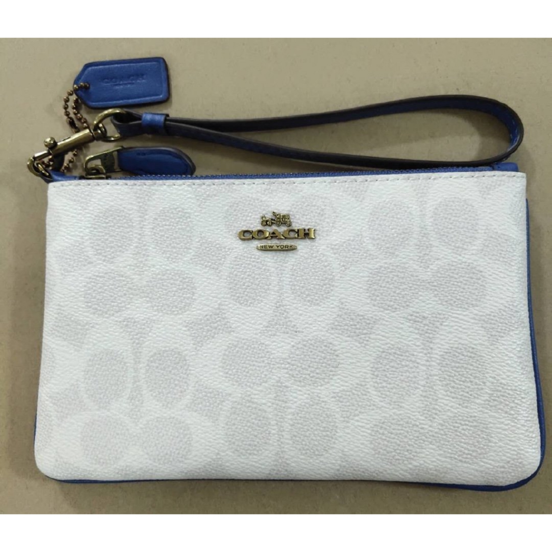 (SG COD) COACH Ladies clutch bag F87642 F3050 cartoon snowman coin purse wrist bag clutch bag