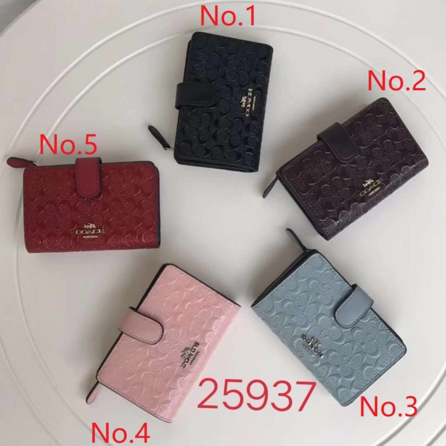 (SG COD) Coach Ladies wallets F25937 Fashion wallets Short Wallets Popular wallets