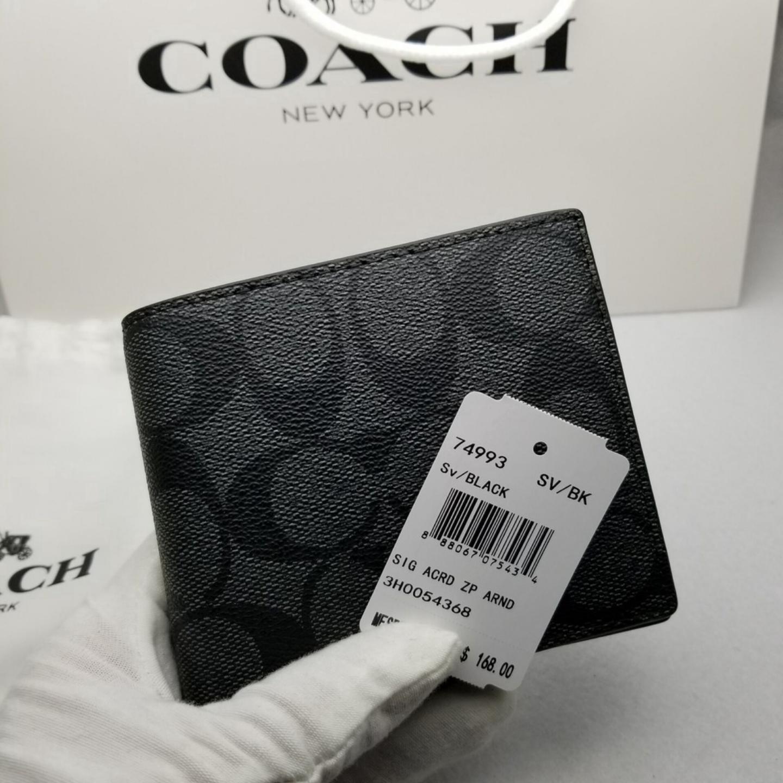 (SG COD)  Coach  (Limited time sale) Men's Wallet F74993 Cardholder Short Wallet Business Wallet