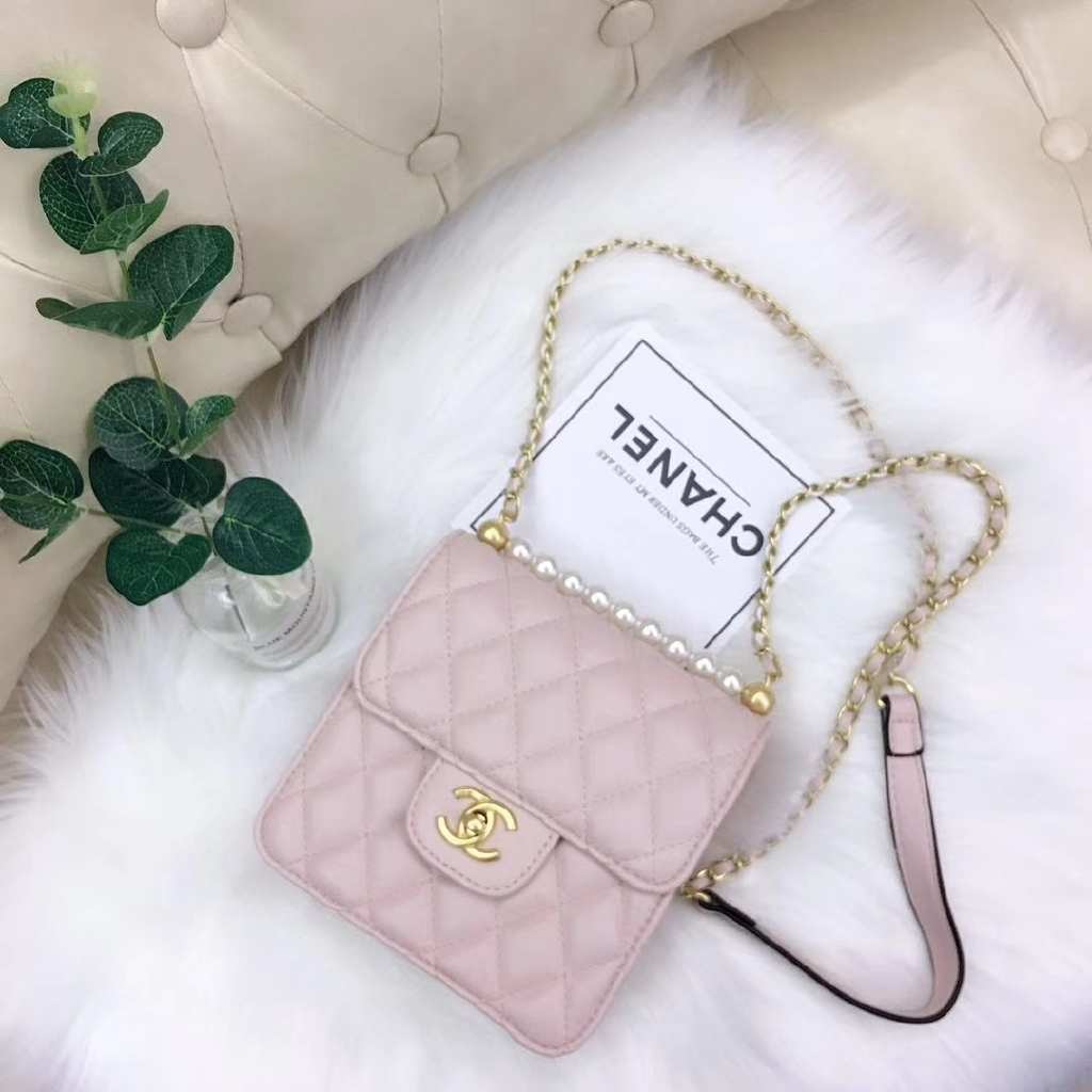 Chanel Home Women Bag Small Square Bag Chain Belt Pack