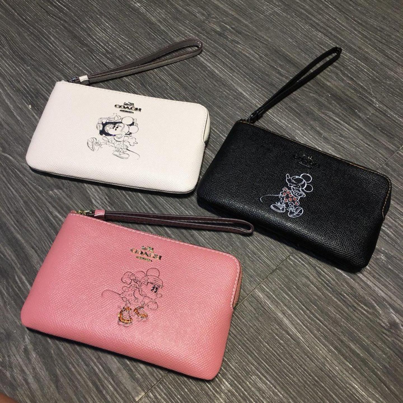 (SG COD) Coach   Women's Wallet Clutch F30004 Mickey Wrist Bag