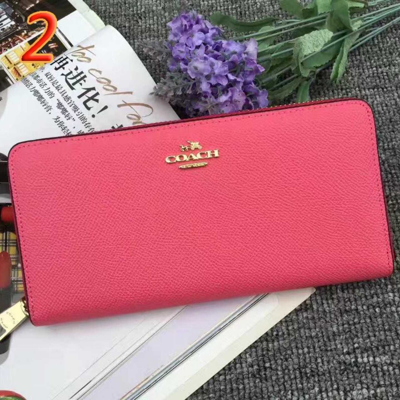 (SG COD) Women's Long  Coach  Wallet F52372 Cardholder Long Wallet Pink Long Wallet