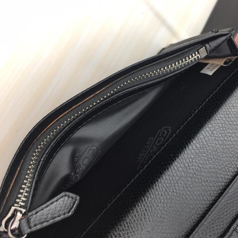 Limited Time Spike Mens Wallet F74978 Black Long Suit Clip Folding Wallet Long Wallet