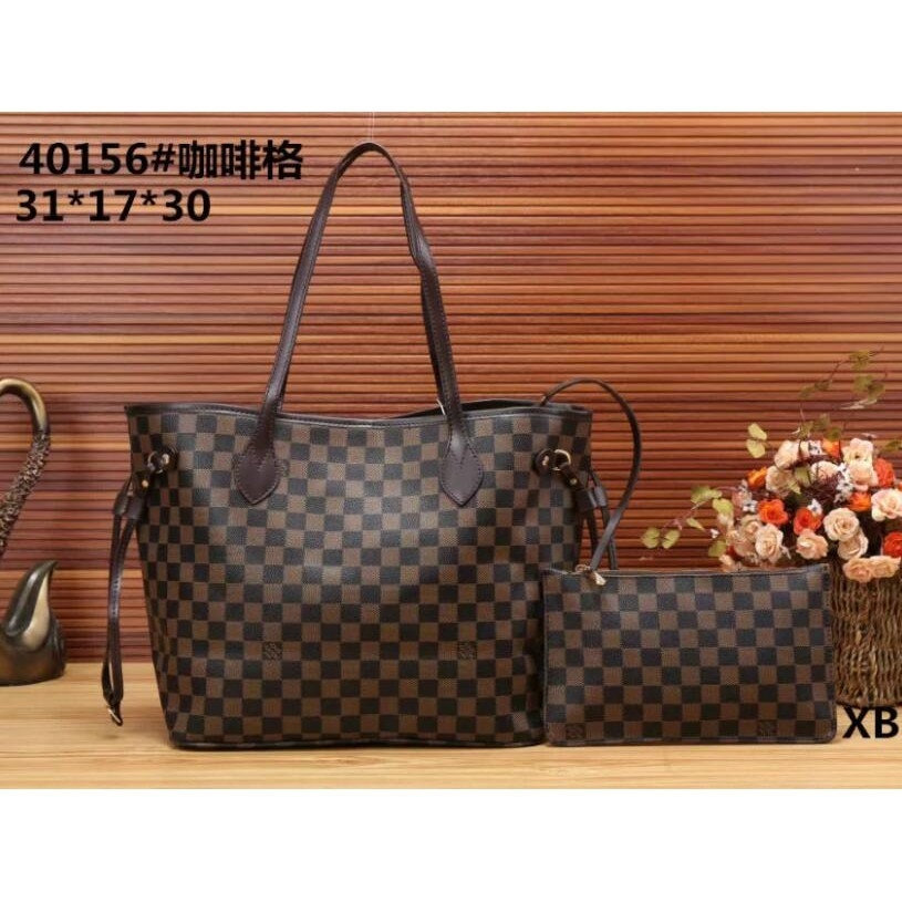 LV lattice printing women handbag