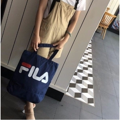 FILA shoulder Bag women men canvas tote bag