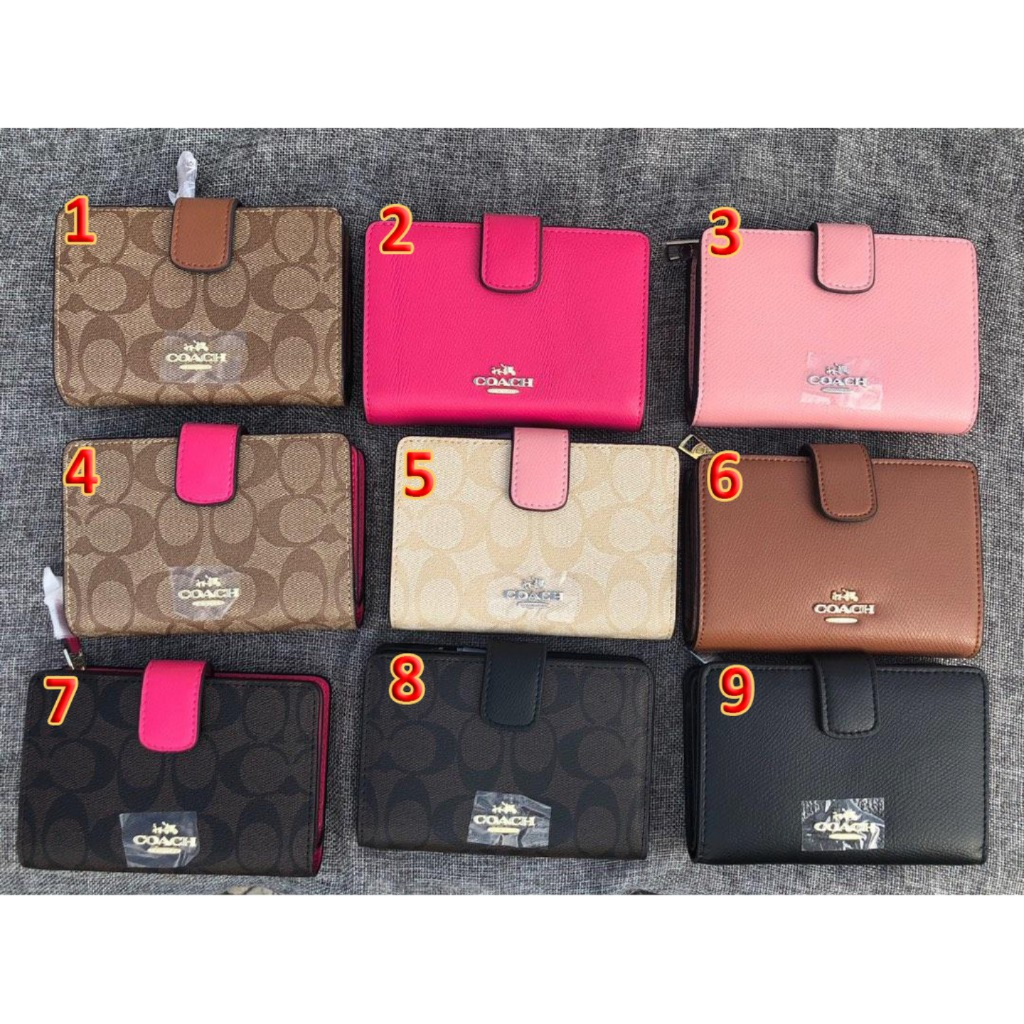 (SG COD) Ladies  Coach wallet F53562 F53436 wallet and cardholder short wallet fashion wallet
