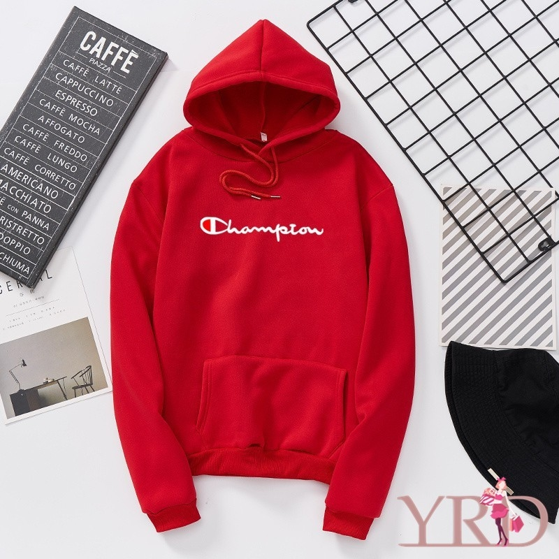 Supreme Simple Letter Print Plus Velvet Warm Loose Couple Hoodie