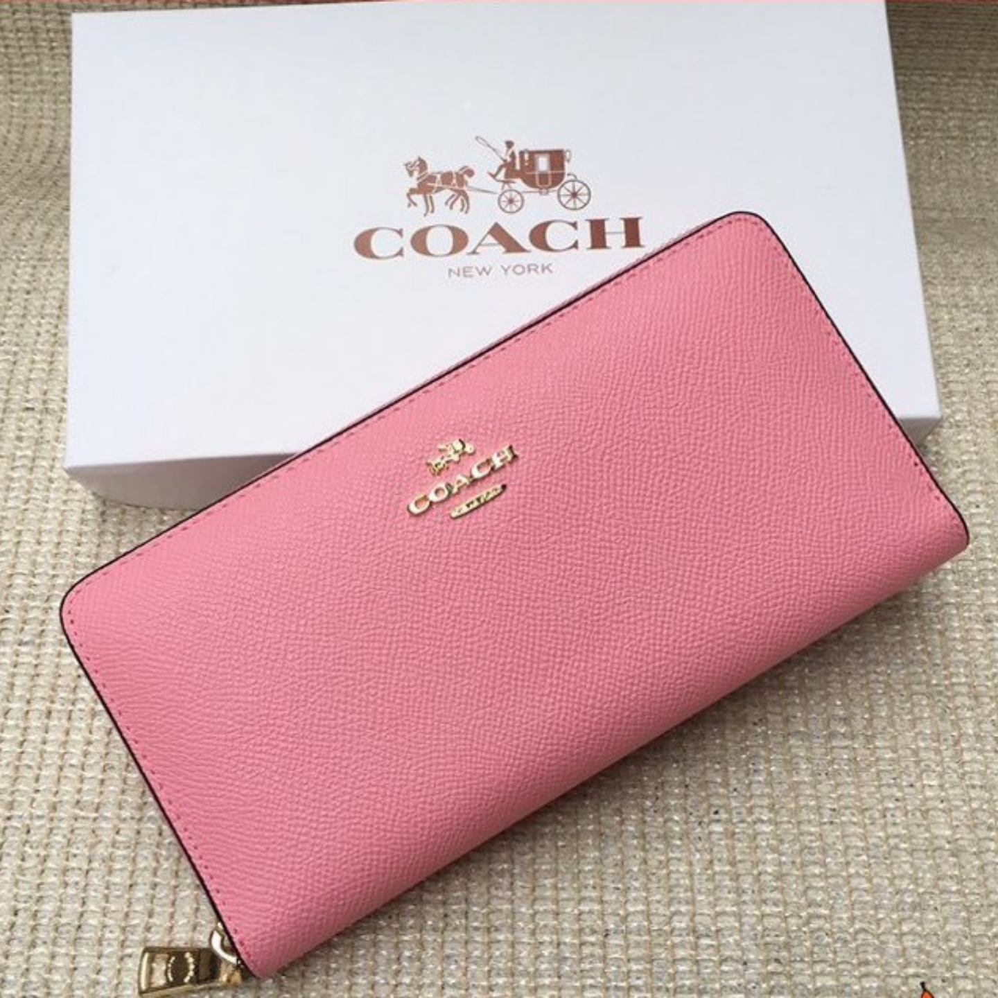 Womens Long Wallet F52372 Cardholder Long Wallet Pink Long Wallet