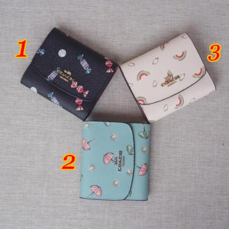 (SG COD) Coach   Women's wallet tri-fold wallet F73479 F73481 F73478 short wallet