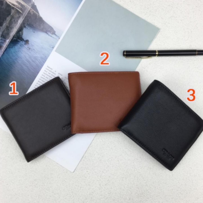 (SG COD) Coach  F74991 Genuine Men's Wallet Short Simple Leather Men's Short Wallet