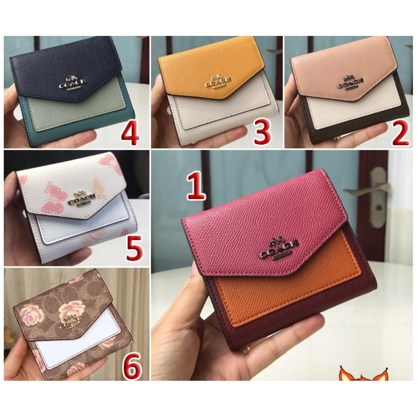(SG COD) Coach  Women's wallets F27252 F69683 F31817 wallets and cardholder short wallets