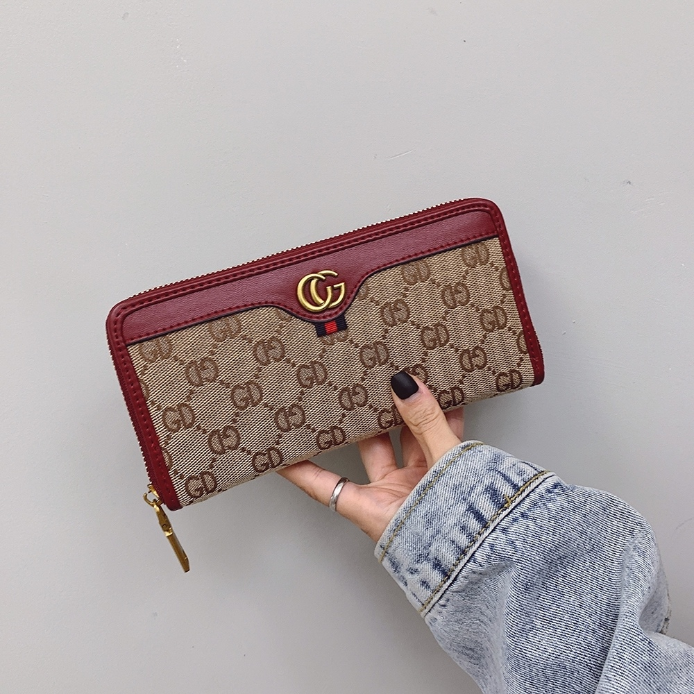 Gucci Long Wallet Fashion Lady Plaid Purses
