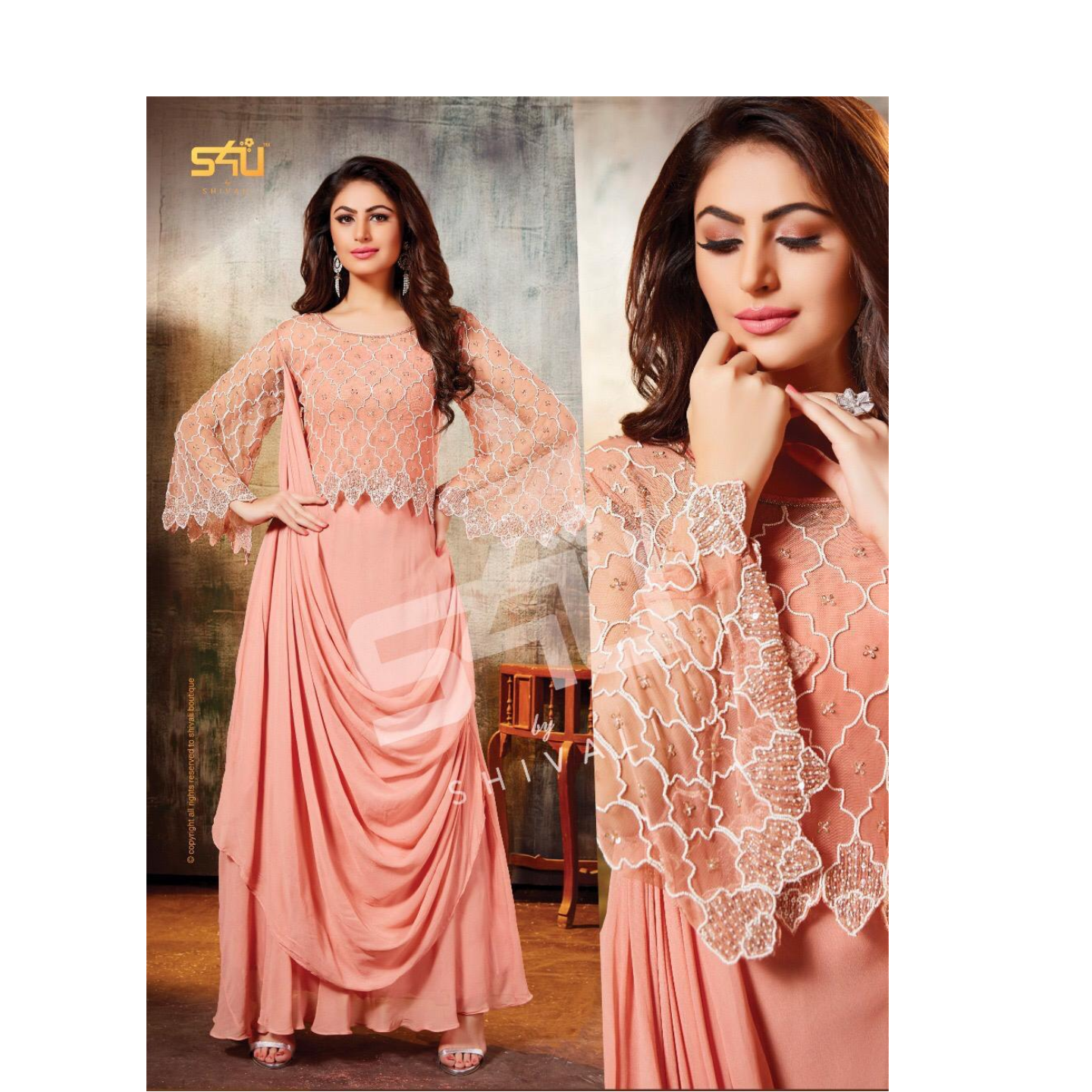 Pretty dress with attached dupatta