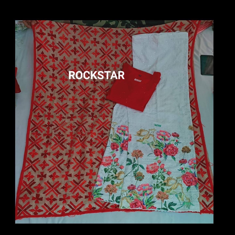 Ready to wear Long Chikankari  Kurti  Mastani Set*