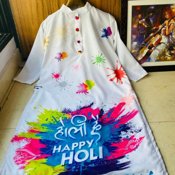 HOLI SPECIAL KURTI FOR GIRLS