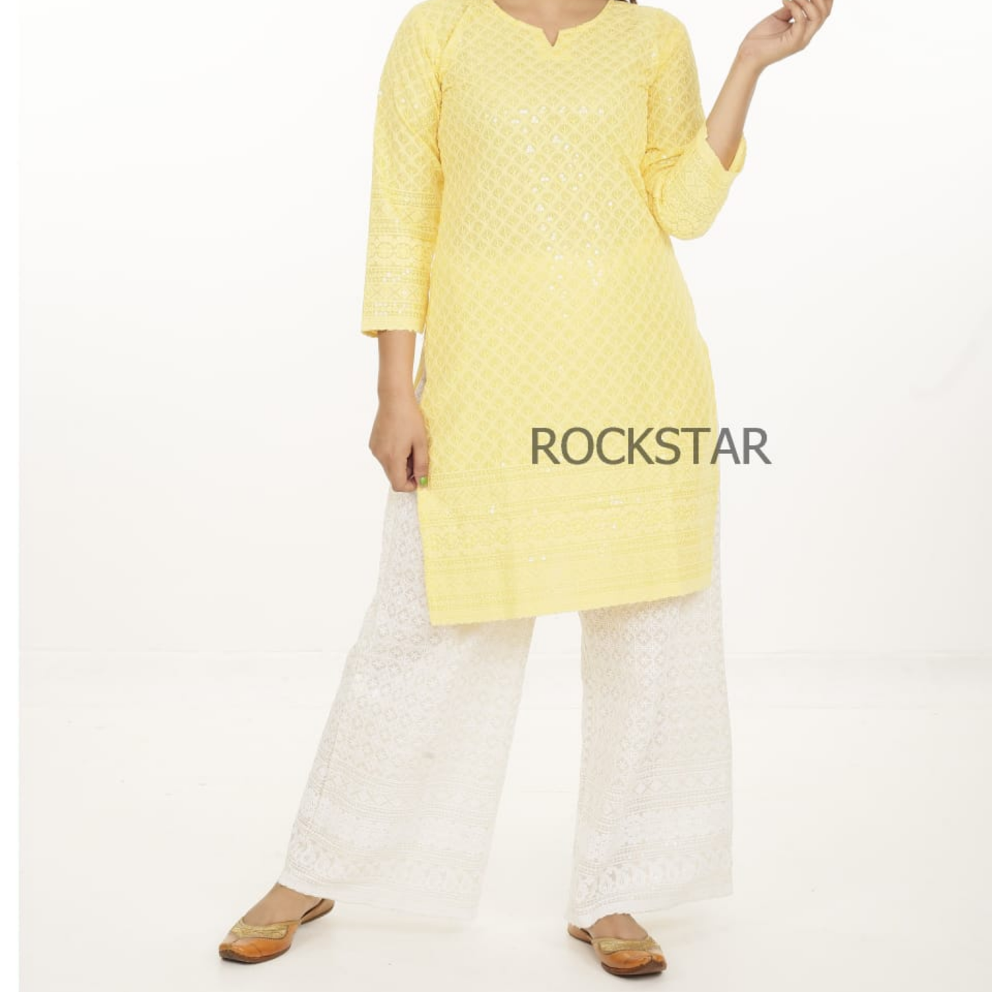Stylish women plazo set with kurti