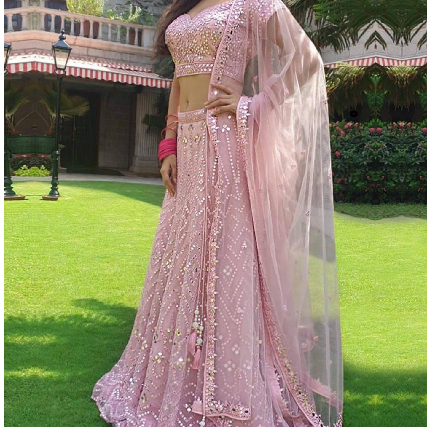 GEORGETTE LEHNGHA CHOLI  WITH DUPPTA  NET