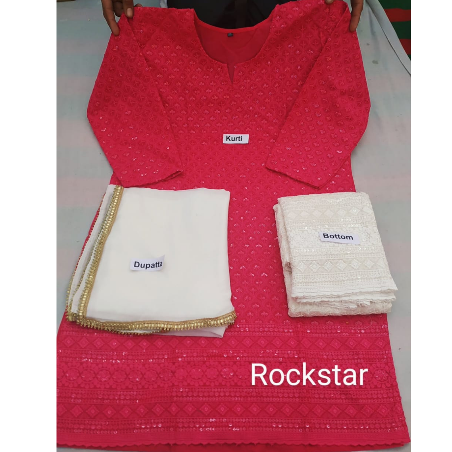 Kurti Sharara with dupatta