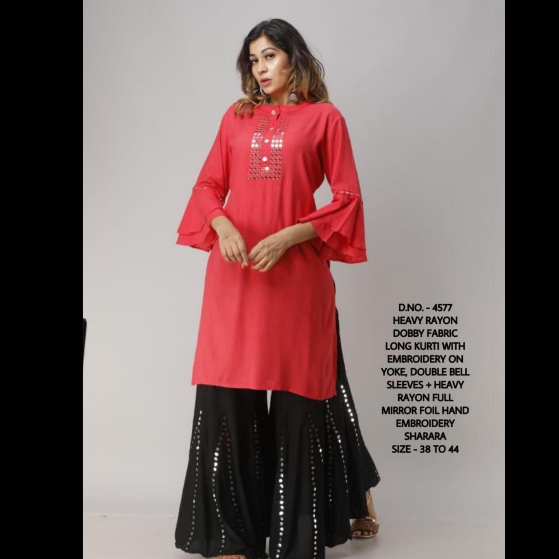 Handloom cotton kurti bottom rayon
